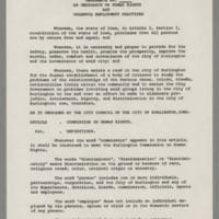 An Ordinance on Human Rights and Unlawful Practices Page 1