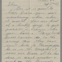 1942-09-24 George Davis to Lloyd Davis Page 1