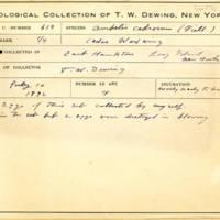 Thomas Wilmer Dewing, egg card # 758u