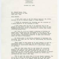 1965-10-25 Burt J. Thompson to Mr. Howard Bowen, Pres. Page 1