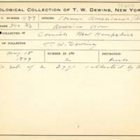 Thomas Wilmer Dewing, egg card # 666u