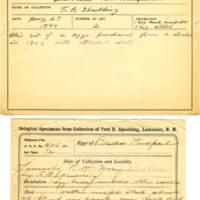 Thomas Wilmer Dewing, egg card # 292