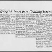 "1969-03-19 Daily Iowan Article: """"Reaction to Protesters Growing Intense"""""