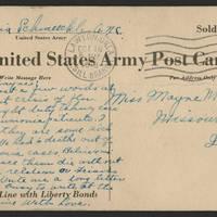 1918-10-16 Postcard - back