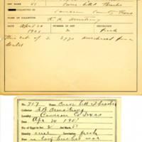 Thomas Wilmer Dewing, egg card # 807u
