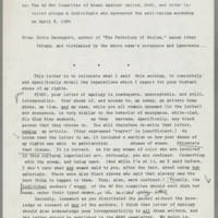 1984-04-08 Doris Davenport to The Ad Hoc Committee of Women Against Racism Page 1