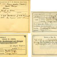 Thomas Wilmer Dewing, egg card # 493