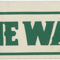 Bumper Sticker: End the War