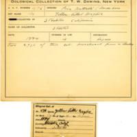 Thomas Wilmer Dewing, egg card # 378