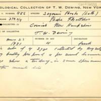 Thomas Wilmer Dewing, egg card # 350