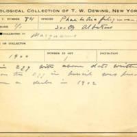 Thomas Wilmer Dewing, egg card # 639u