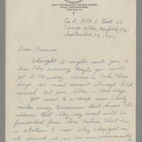 1942-09-17 Maurice Davis to Laura Frances Davis Page 1
