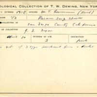 Thomas Wilmer Dewing, egg card # 698u