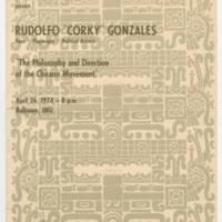 """1974-04-26 Rudolfo """"Corky"""" Gonzales"""
