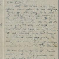1945-09-30 Pfc. Robert J. Nicola to Dave Elder Page 1