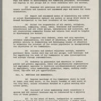 Statement of Purpose and By-Laws of the Mayor's Commission on Civic Duty Page 3