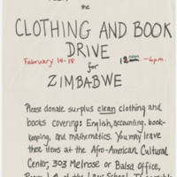 1978-02-14 Clothing and Book Drive