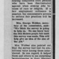 "1951-09-09 Des Moines Register Article: ""Poll Reveals Wide Variety Of Prejudices"" Page 2"