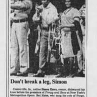 """1984-02-08 """"""""Don't break a leg, Simon"""""""""""