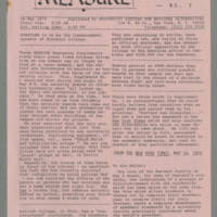1970-05-16 Newsletter: MEASURE: Emergency Supplements No. 3 Page 1
