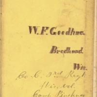 William F. Goodhue diary, 1861