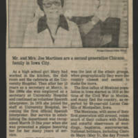 "1983-05-07 Iowa City Press-Citizen Article: """"The Rios and Martinez families happy in Iowa City"""" Page 6"