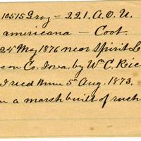 Clinton Mellen Jones, egg card # 196