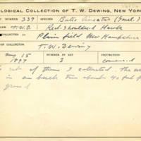 Thomas Wilmer Dewing, egg card # 657u