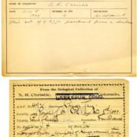 Thomas Wilmer Dewing, egg card # 397