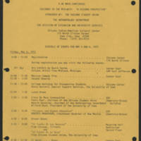 1972-05-05 Cinco de Mayo Conference Schedule of Events