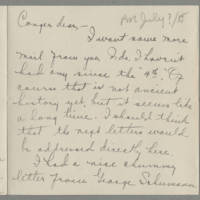 1918-07-11 Daphne Reynolds to Conger Reynolds Page 1