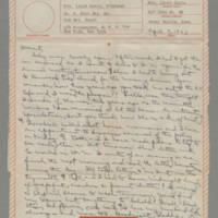 1943-04-07 Laura Davis to Lloyd Davis Page 1