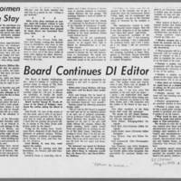 """1970-05-11 Daily Iowan Article: """"""""Option to  Leave Given Students"""""""" Page 4"""