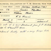Thomas Wilmer Dewing, egg card # 358