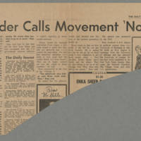 1969-11-18 Daily Iowan Article: 'SDS Founder Calls Movement 'No Joyride'' Page 1