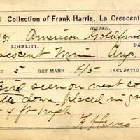 Frank Harris, egg card # fh005u