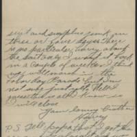 1917-09-03 Harvey Wertz to Miss Dorothy Wertz Page 3