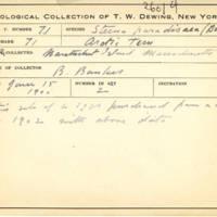 Thomas Wilmer Dewing, egg card # 055