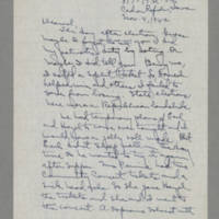 1942-11-04 Laura Davis to Lloyd Davis Page 1