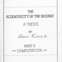 Eccentricity of the Sextant by Frederic Furbish, 1893, Page 123