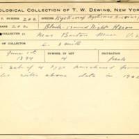Thomas Wilmer Dewing, egg card # 151