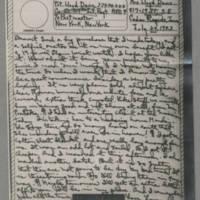 1943-07-24 Laura Davis to Lloyd Davis