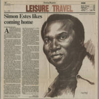 "1985-11-03 Article: """"Simon Estes likes coming home"""""