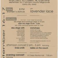 1994-09-16 Iowa Women's Music Festival