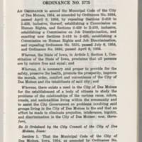 """Ordinance No. 575 On Human Rights and Job Discrimination"" Page 1"