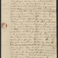 Henry Eno letters to his family, March 1838-October 1840