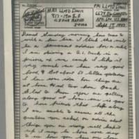 1943-09-19 Lloyd Davis to Laura Davis Page 1