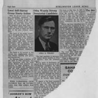 "Burlington Labor News Article: ""Local Self-Survey Group Starts Action"""