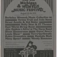"1979-08-23 The 4th Michigan Womyn's Music Festival"""""
