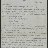 1945-05-07 W.J. Bruty to Dave Elder Page 1